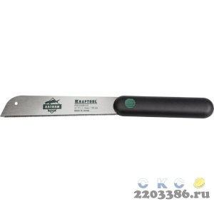 """Ножовка по дереву (пила) """"Alligator JAPAN 22"""" 185 мм x 0,3 мм, 22 TPI (1,15 мм) для сверхточных работ, KRAFTOOL"""