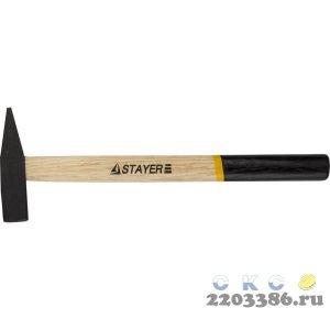 STAYER 200 г молоток слесарный с деревянной рукояткой