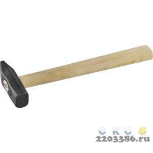 СИБИН 500 г молоток слесарный с деревянной рукояткой