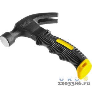 STAYER COMPACT молоток-гвоздодёр столярный 225 г укороченный с фиберглассовой рукояткой