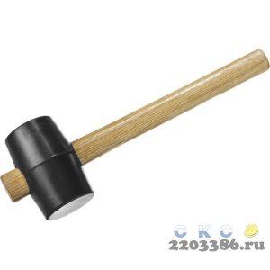 ЗУБР 230г резиновая Чёрная киянка с деревянной рукояткой