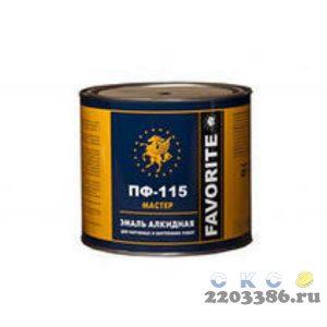 Эмаль ПФ-115 розовая (по 2,4 кг) Фаворит МАСТЕР,  3 шт/уп ГОСТ 6465-76