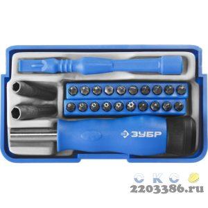 Отвертка с битами для точных работ и мобильных устройств 24 предм., ЗУБР