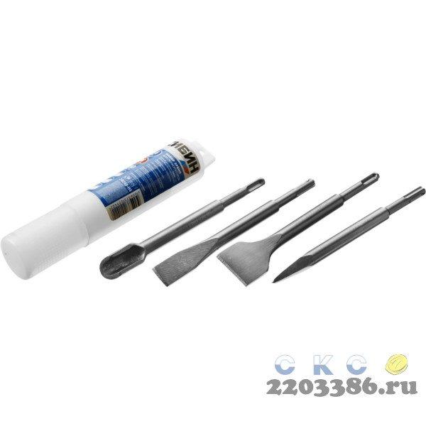 СИБИН SDS-plus Набор зубил 200 мм, 4 шт