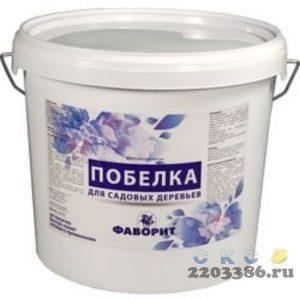 """Побелка """"ФАВОРИТ"""" белая ВДАК-577П для садовых деревьев (пласт. ведро 3 кг.), 6 шт/уп. водно-дисперсионная"""