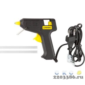 Пистолет STAYER клеевой (термоклеящий) электрический, 10Вт/220В, 7мм