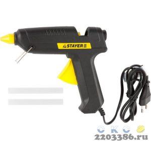 Пистолет STAYER клеевой (термоклеящий) электрический, 60Вт/220В, 11мм