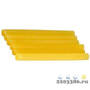 """Стержни STAYER """"MASTER"""" для клеевых (термоклеящих) пистолетов, цвет желтый по бумаге и дереву, 11х200мм, 6шт"""