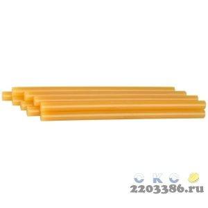 """Стержни STAYER """"MASTER"""" для клеевых (термоклеящих) пистолетов, цвет желтый по бумаге и дереву, 11х200мм, 40шт"""