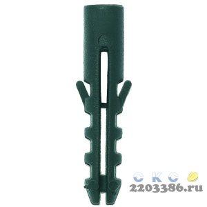 """Дюбель распорный полипропиленовый, тип """"ЕВРО"""", 6 х 40 мм, 100 шт, ЗУБР"""