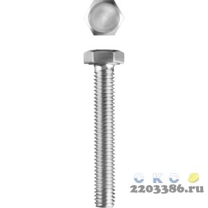 Болт ГОСТ 7798-70, M8 x 55 мм, 5 кг, кл. пр. 5.8, оцинкованный, ЗУБР