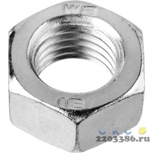 Гайка ГОСТ 5927-70, M4, 5 кг, кл. пр. 6, оцинкованная, ЗУБР