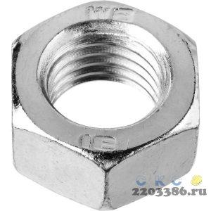 Гайка ГОСТ 5927-70, M16, 5 кг, кл. пр. 6, оцинкованная, ЗУБР