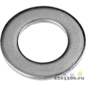 Шайба DIN 125A, 10 мм, 16 шт, оцинкованная, ЗУБР