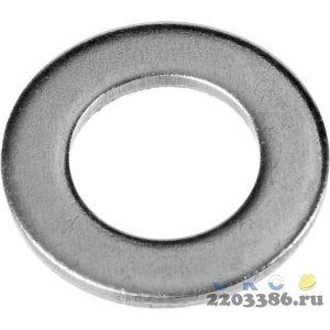 Шайба DIN 125A, 6 мм, 45 шт, оцинкованная, ЗУБР