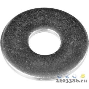 Шайба DIN 9021 кузовная, 10 мм, 5 кг, оцинкованная, ЗУБР