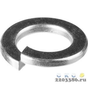 Шайба DIN 127 пружинная, 10 мм, 5 кг, оцинкованная, ЗУБР