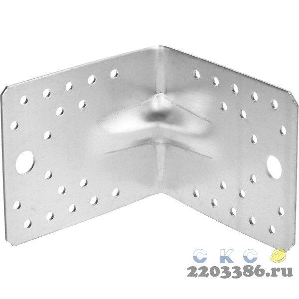 Уголок крепежный усиленный УКУ-2.0, 90х105х105 х 2мм, ЗУБР
