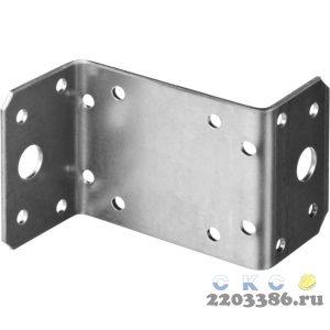 Уголок крепежный  Z-образный, 55х70х35 х 2мм, 50шт, ЗУБР