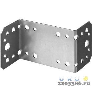 Уголок крепежный  Z-образный, 65х90х45 х 2мм, 50шт, ЗУБР