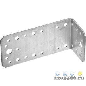 Уголок крепежный асимметричный, 65х50х130 х 2мм, 20шт, ЗУБР
