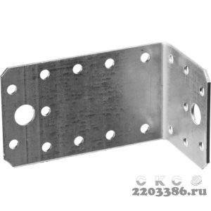 Уголок крепежный асимметричный УКА-2.0, 55х50х90 х 2мм, ЗУБР