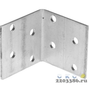 Уголок крепежный равносторонний, 40х40х40 х 2мм, 50шт, ЗУБР