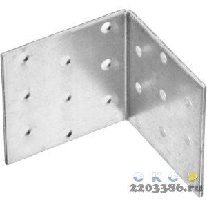 Уголок крепежный равносторонний, 60х60х60 х 2мм, 20шт, ЗУБР