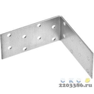 Уголок крепежный равносторонний УКР-2.0, 40х80х80 х 2мм, ЗУБР