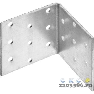 Уголок крепежный равносторонний УКР-2.0, 60х60х60 х 2мм, ЗУБР