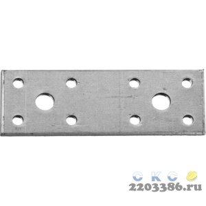 Крепежная пластина 140х55 х 2мм, КП-2.0 ЗУБР