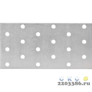 Пластина соединительная ПС-2.0, 60х120 х 2мм, ЗУБР
