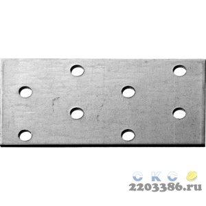Пластина соединительная ПС-2.0, 40х80 х 2мм, ЗУБР