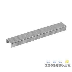 ЗУБР 6 мм скобы для степлера плоские тип 140, 1000 шт