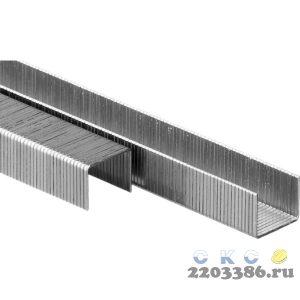 ЗУБР 10  мм скобы для степлера тонкие широкие тип 80, 5000 шт