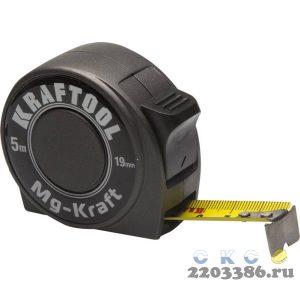 KRAFTOOL MG-Kraft  5м / 19мм  ударопрочная профессиональная рулетка в металлическом корпусе