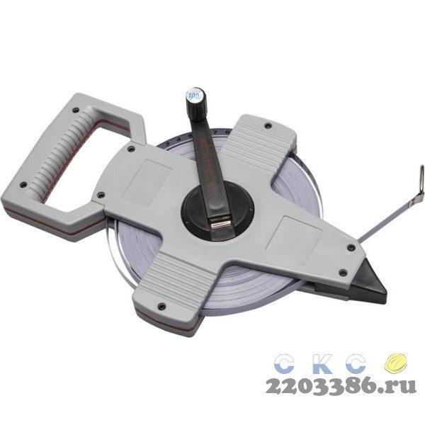 ЗУБР 100 м геодезическая стальная мерная лента
