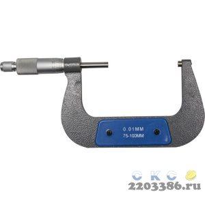 """Микрометр LEGIONER """"M-75-100-0.01"""" механический, 75-100/ 0,01мм"""