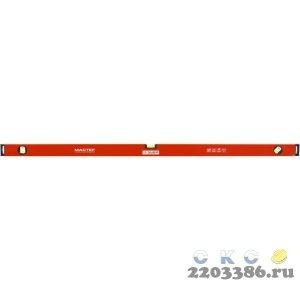 Уровень ЗУБР коробчатый, крашеный, 3 ампулы, фрезерованная базовая поверхность, 100 см