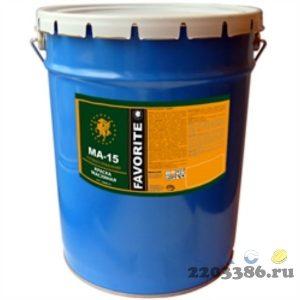 Краска МА-15 синяя  Фаворит  (по 25 кг)