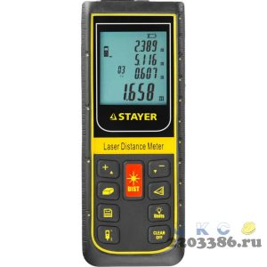 Дальномер PRO-Control лазерный, дальность 100м, точность 2мм, STAYER Professional 34959