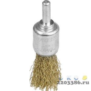 Щетка кистевая для дрели, витая стальная латунированная проволока 0,3мм, 17мм, STAYER, MAXClean