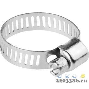 Хомуты стальные оцинкованные, 18-25 мм, 5шт, STAYER