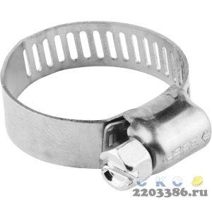 Хомуты, нерж. сталь, просечная лента 8 мм, 8-13 мм, 5 шт, ЗУБР Профессионал