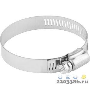 Хомуты, нерж. сталь, просечная лента 12.7 мм, 40-64 мм, 4 шт, ЗУБР Профессионал
