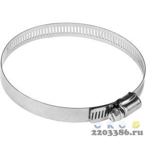 Хомуты, нерж. сталь, просечная лента 12.7 мм, 91-114 мм, 2 шт, ЗУБР Профессионал