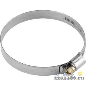 Хомуты, нерж. сталь, накатная лента 12 мм, 60-80 мм, 50 шт, ЗУБР Профессионал