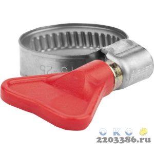 "Хомуты ""Бабочка"", нерж. сталь, накатная лента 9 мм, 16-25 мм, 2 шт, ЗУБР Профессионал"