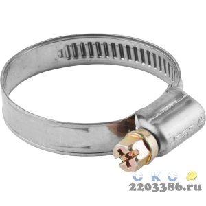 Хомуты, нерж. сталь, накатная лента 9 мм, 25-40 мм, 5 шт, ЗУБР Профессионал