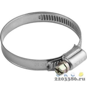 Хомуты, нерж. сталь, накатная лента 9 мм, 40-60 мм, 5 шт, ЗУБР Профессионал